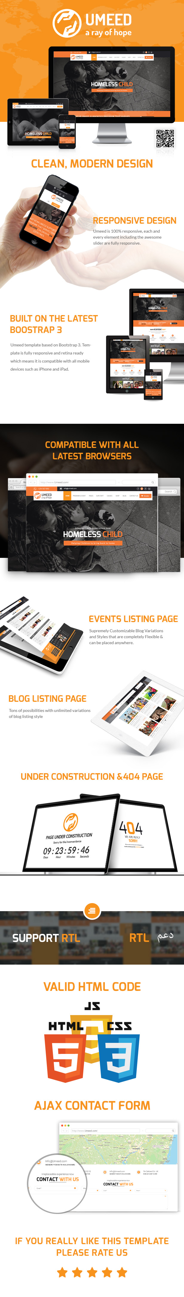 Umeed A Ray of Hope Html5 Theme